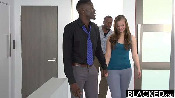 young skinny sex Teen Tries Threesome With blacks